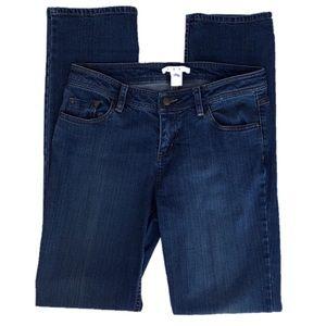 CABI Slim Straight Leg Mid Rise Jeans Size 10
